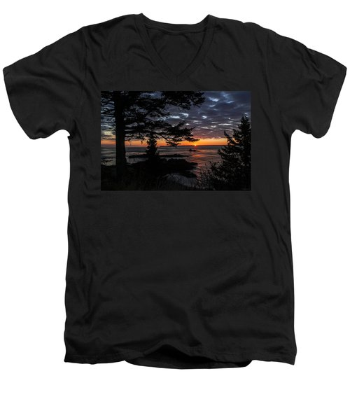 Quoddy Sunrise Men's V-Neck T-Shirt