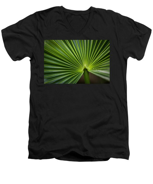 Radial Greens Men's V-Neck T-Shirt
