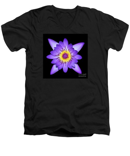 Radiant Men's V-Neck T-Shirt by Judy Whitton