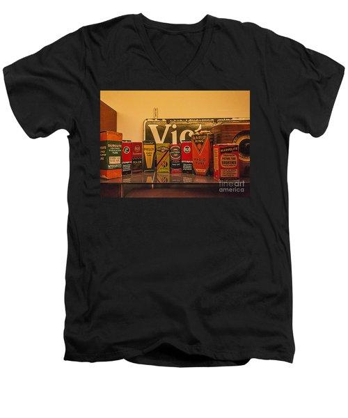 Radio Tubes Men's V-Neck T-Shirt by Janice Rae Pariza