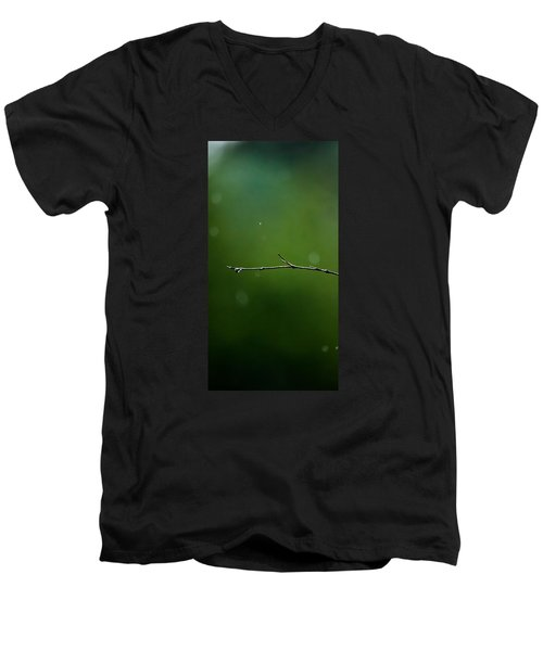 Rain Bokeh Men's V-Neck T-Shirt by Shelby  Young