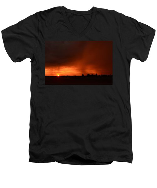 Rain Squall Sunrise Men's V-Neck T-Shirt