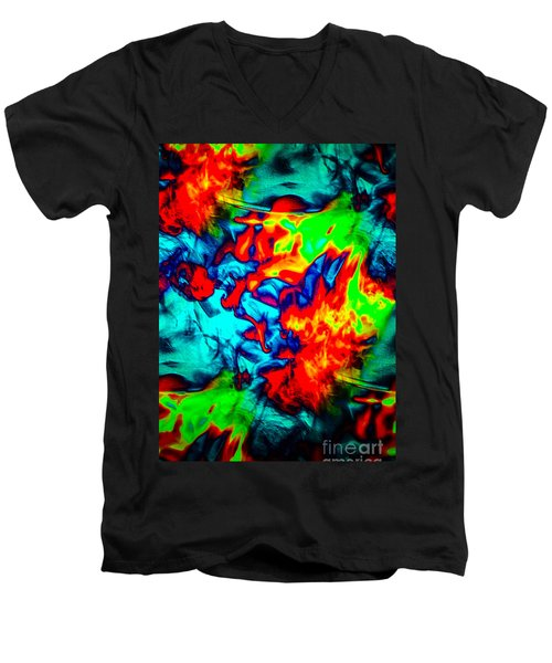 Rainbow Dye Men's V-Neck T-Shirt
