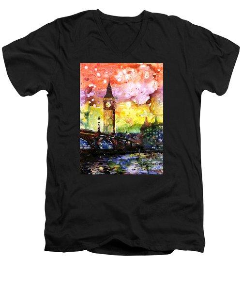 Rainbow Of Fruit Flavors Men's V-Neck T-Shirt