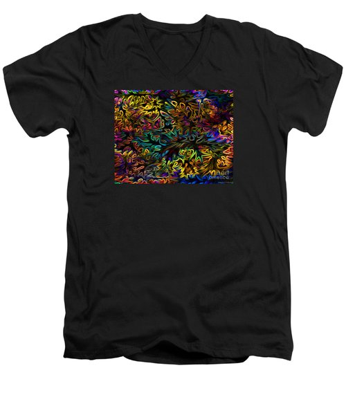 Men's V-Neck T-Shirt featuring the photograph Rainbows In The Forest by Patricia Griffin Brett