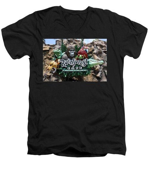 Rainforest Men's V-Neck T-Shirt by David Nicholls