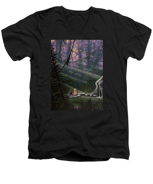 Rainforest Mysteries Men's V-Neck T-Shirt