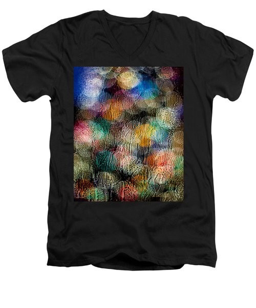 Men's V-Neck T-Shirt featuring the photograph Rainy Day Christmas by Aaron Aldrich