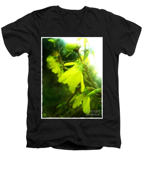 Men's V-Neck T-Shirt featuring the photograph Rainy Dream by Nina Ficur Feenan