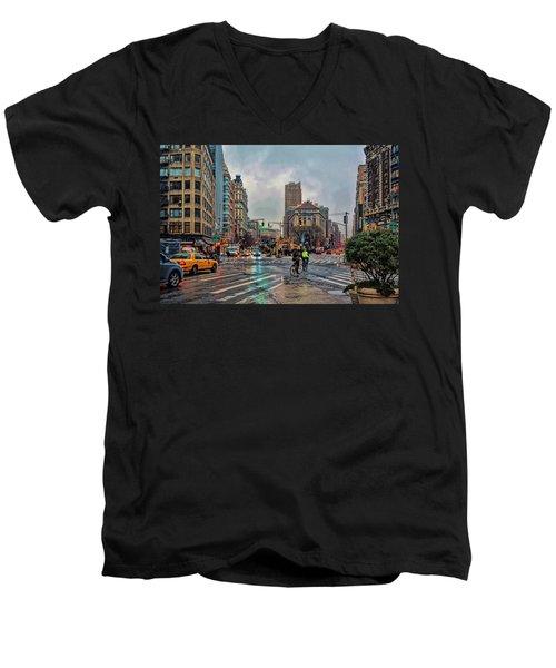 X-ing Broadway Men's V-Neck T-Shirt