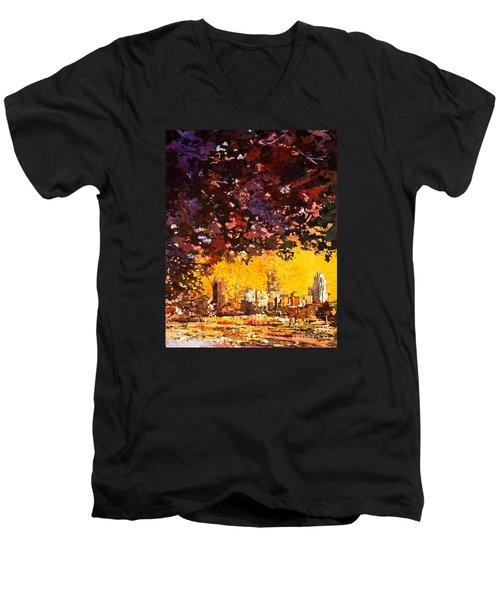 Raleigh Downtown Men's V-Neck T-Shirt