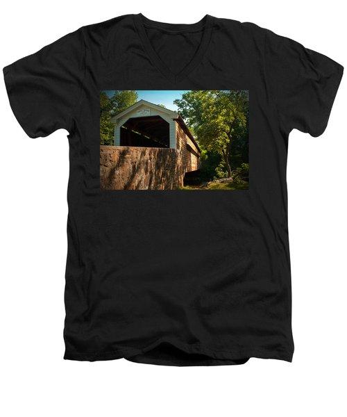 Rapps Covered Bridge Men's V-Neck T-Shirt by Michael Porchik