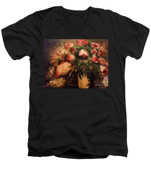 Raspberry Jammies Men's V-Neck T-Shirt