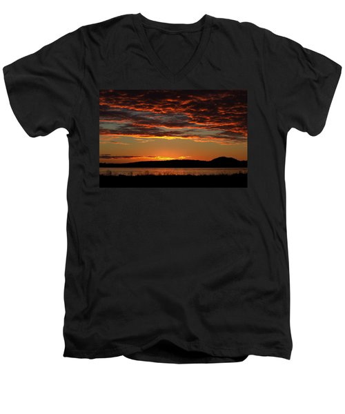Rathtrevor Sunrise Men's V-Neck T-Shirt
