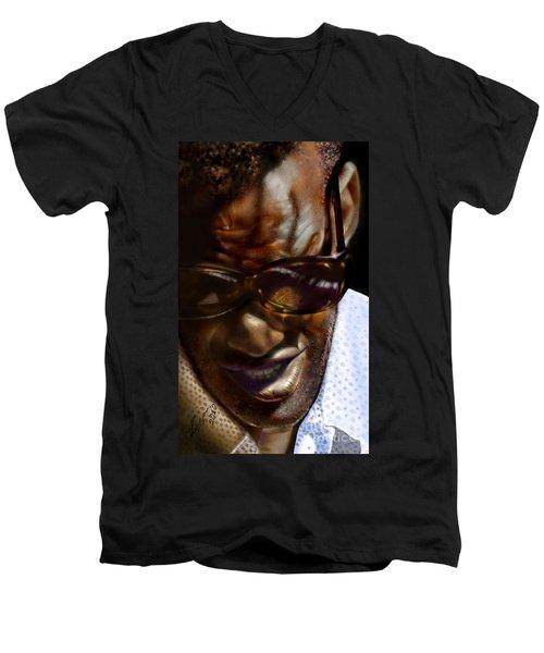 Ray Charles-beyond Sight 2 Men's V-Neck T-Shirt