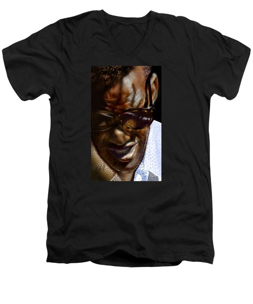 Ray Charles-beyond Sight 2 Men's V-Neck T-Shirt