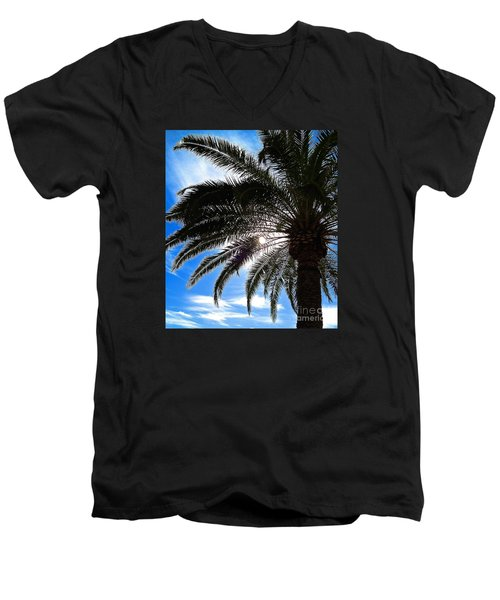 Men's V-Neck T-Shirt featuring the photograph Reaching For Heaven by Margie Amberge