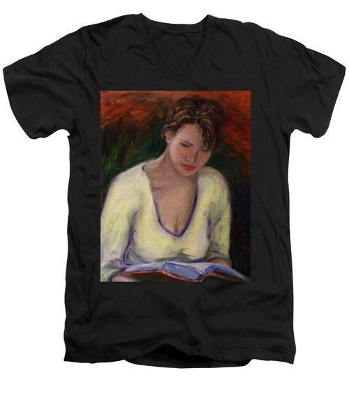 Reading Men's V-Neck T-Shirt