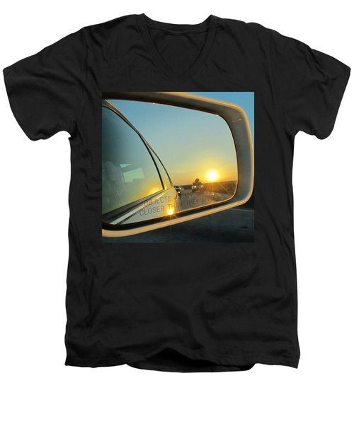 Rear View Sunset Men's V-Neck T-Shirt