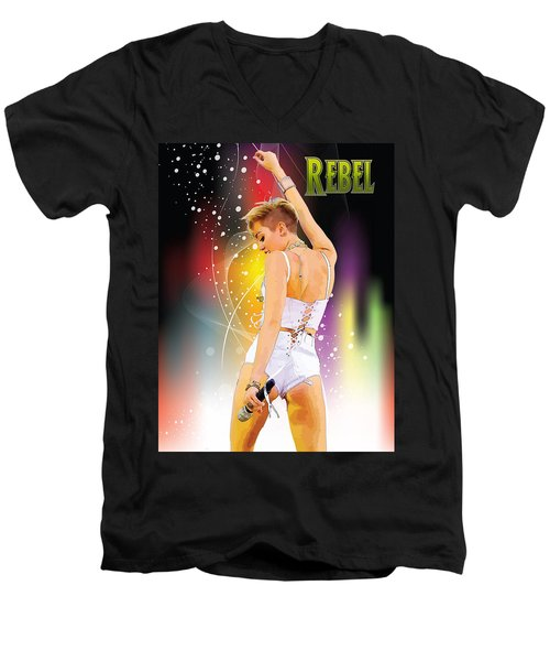 Rebel Men's V-Neck T-Shirt