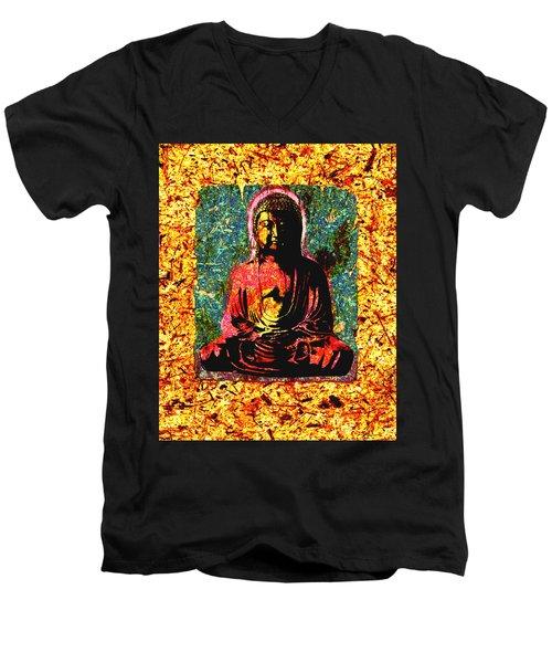 Red Buddha Men's V-Neck T-Shirt