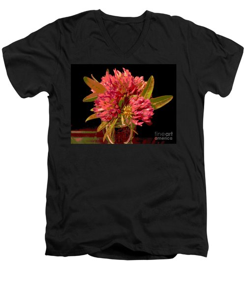 Red Clover 1 Men's V-Neck T-Shirt