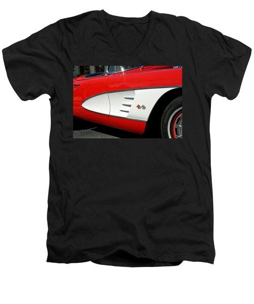 Red Corvette Men's V-Neck T-Shirt