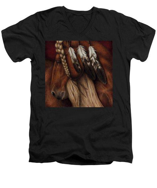Red Eagle Men's V-Neck T-Shirt