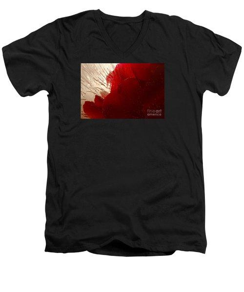 Red Ice Men's V-Neck T-Shirt by Randi Grace Nilsberg