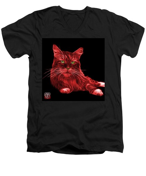 Red Maine Coon Cat - 3926 - Bb Men's V-Neck T-Shirt