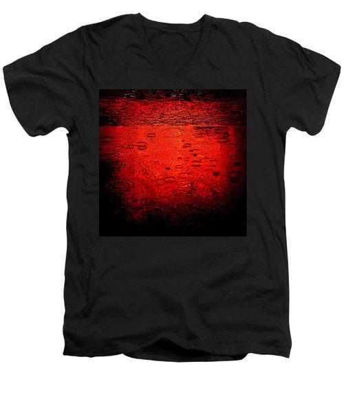 Red Rain Men's V-Neck T-Shirt