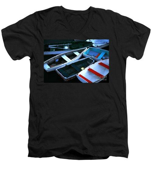 Red Stripe Men's V-Neck T-Shirt