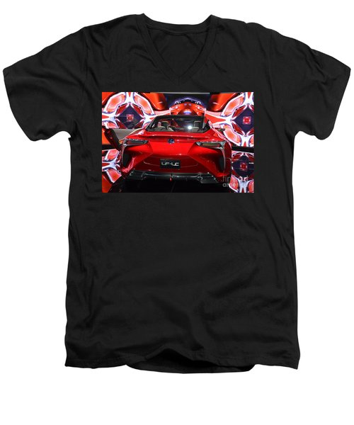 Red Velocity Men's V-Neck T-Shirt
