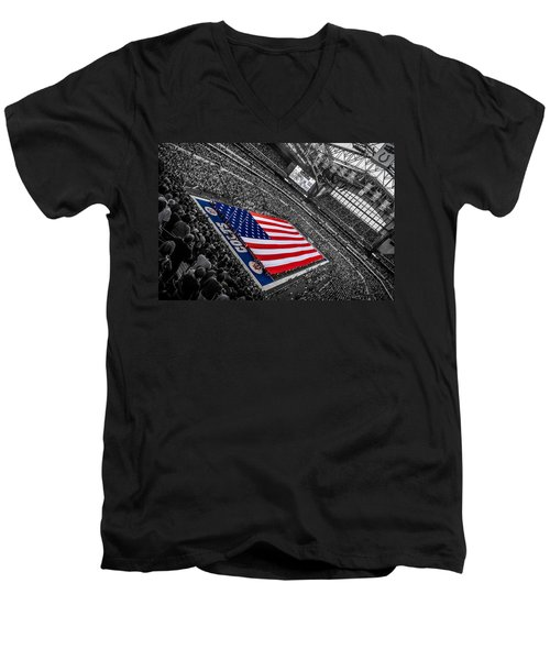 Red White And Blue Men's V-Neck T-Shirt