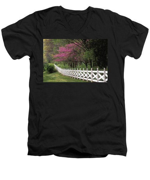 Redbud - Fs000814 Men's V-Neck T-Shirt
