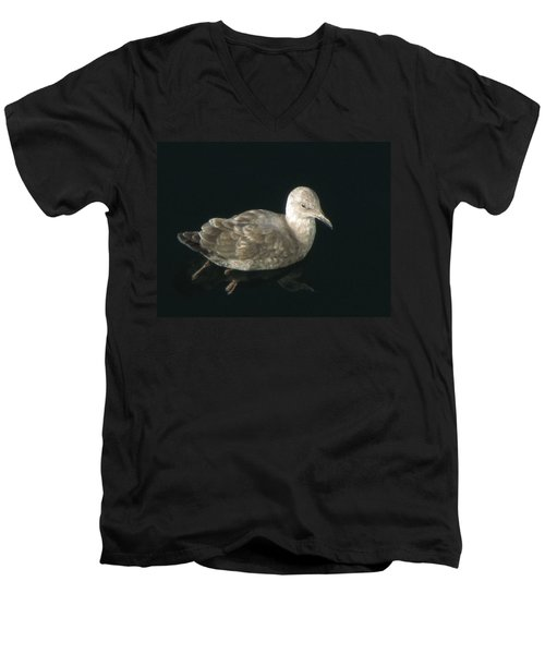 Refections Of A Gull Men's V-Neck T-Shirt