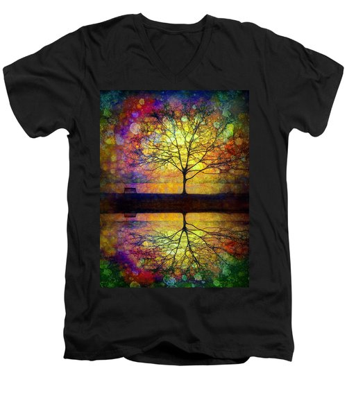 Reflected Dreams Men's V-Neck T-Shirt by Tara Turner