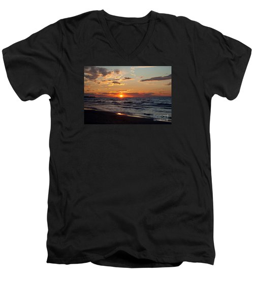 Men's V-Neck T-Shirt featuring the photograph Reflection by Barbara McMahon