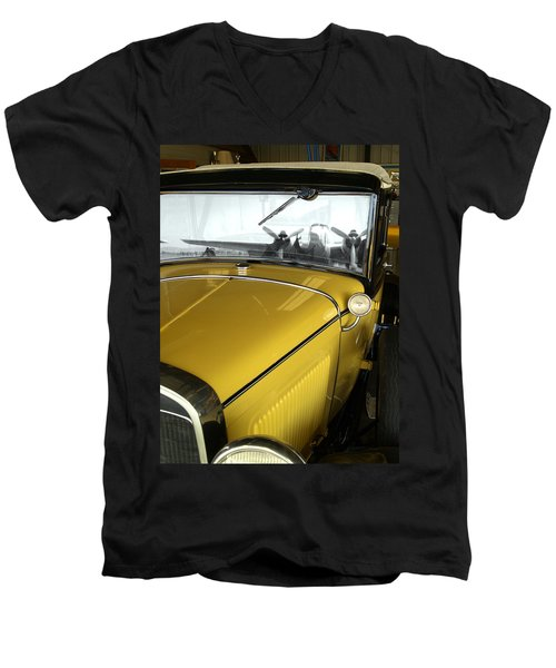 Reflection Of The Past Men's V-Neck T-Shirt by Bill Gallagher