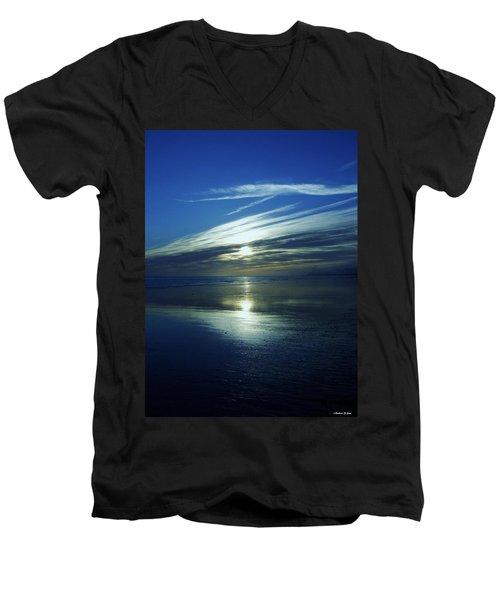 Reflections Men's V-Neck T-Shirt by Barbara St Jean