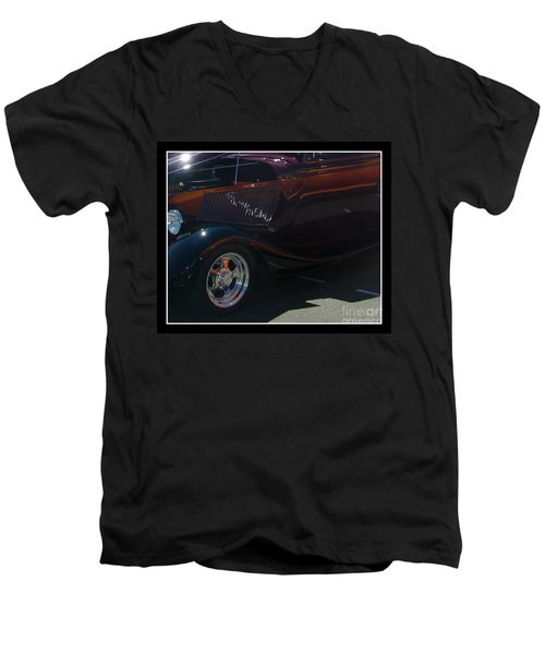 Men's V-Neck T-Shirt featuring the photograph Reflections by Bobbee Rickard