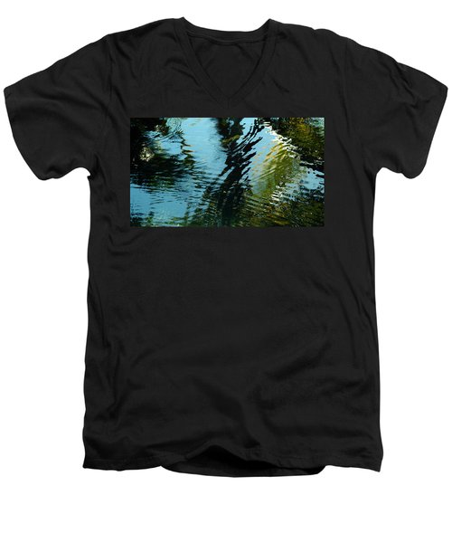 Reflections In A Fishpond Men's V-Neck T-Shirt