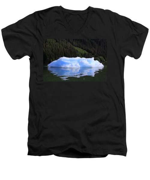 Reflections In The Sea Men's V-Neck T-Shirt by Shoal Hollingsworth