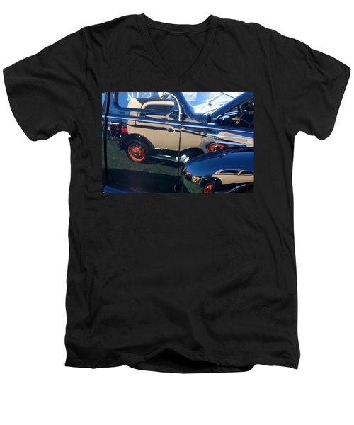 Men's V-Neck T-Shirt featuring the photograph Reflections by Joe Kozlowski