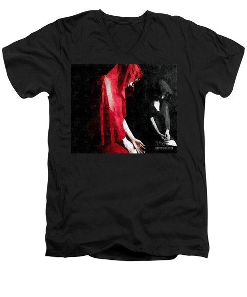 Reflections Of A Broken Heart Men's V-Neck T-Shirt