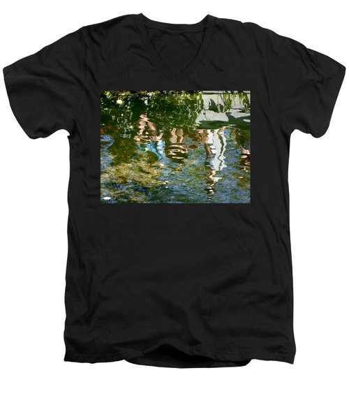 Reflections Of A Parade Men's V-Neck T-Shirt by Amelia Racca
