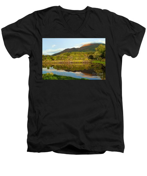 Reflections On Loch Etive Men's V-Neck T-Shirt