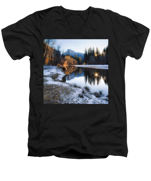 Men's V-Neck T-Shirt featuring the photograph Reflections by Vincent Bonafede