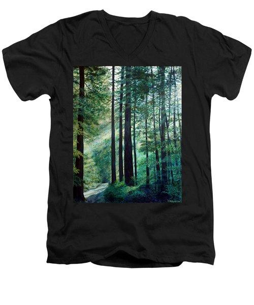 Refuge Men's V-Neck T-Shirt by Kathleen McDermott