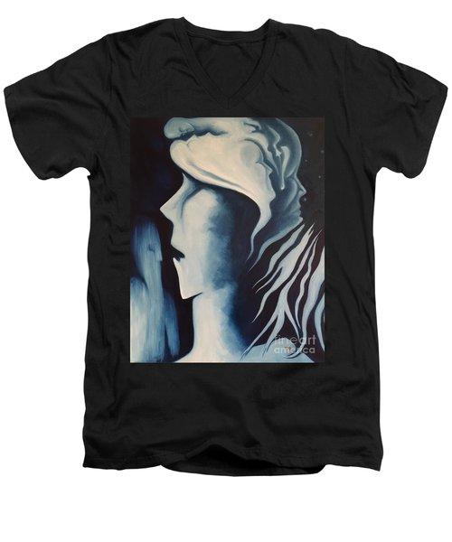 Refuge Men's V-Neck T-Shirt by Michael  TMAD Finney
